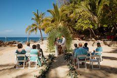 small wedding at beach