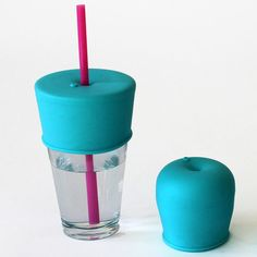 Turn any cup into a sippy cup or a lid for a straw!