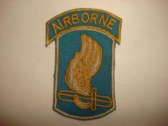 """Vietnam War US 173rd AIRBORNE Brigade """"SKY SOLDIERS"""" Patch"""