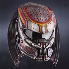 PROMO FREE SHIPPING US ONLY SILVER CHANGE PREDATOR HELMET DOT APPROVED #CELLOS