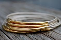 Summer White Leather Bangle Bracelets Set of 10 Stacking Bangles Best Seller Amy Fine Design