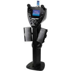 "Professional Pedestal CDG Karaoke System with 5.5"" Monitor & Rotating Speakers"