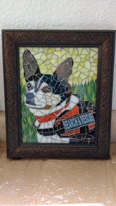 Pet portrait mosaic - Jack Russell - Search & Rescue dog