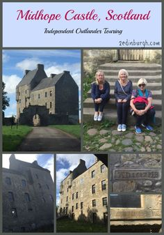 Midhope Castle which becomes Lallybroch, the home of Ian and Jenny Fraser in the Outlander series. Guests at Craigwell Cottage photographed on their own Outlander Trail.