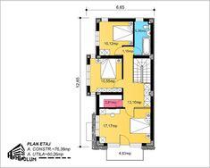 Case cu latimea de 7 metri - 3 proiecte generoase - Case practice House Plans, Modern Design, Floor Plans, Real Estate, Layout, How To Plan, Home, Houses, Page Layout