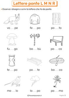 Lettere Ponte L M N R: Schede Didattiche per la Scuola Primaria | PianetaBambini.it Math For Kids, Activities For Kids, Kids Math Worksheets, Italian Language, Learning Italian, Teaching Materials, I School, New Years Eve Party, Kids And Parenting