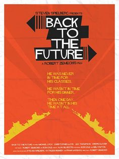 Saul Bass - Back To The Future - Movie Poster
