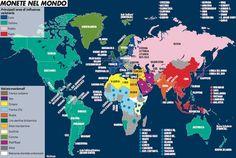 Gli Arcani Supremi (Vox clamantis in deserto - Gothian): Mappa delle monete nel mondo