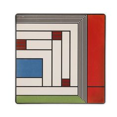 This absorbent trivet features a design that Frank Lloyd Wright did for a rug found in the Price Tower (1952), in Bartlesville, Oklahoma.