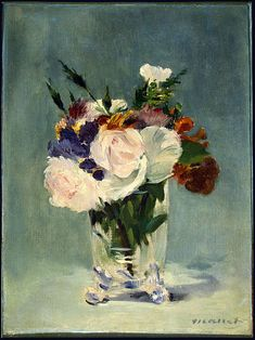 Flowers in a Crystal Vase, Edouard Manet, 1882