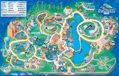 SeaWorld Orlando Map. Bucket list: Go to seaworld