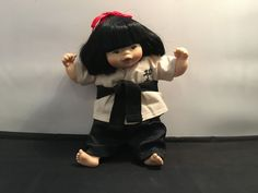 Vintage Mieler Doll by Mikkel B. Jacobsen – Asian in Martial Arts Outfit in Dolls, Bears, Dolls, Vintage Martial Arts Clothing, Bears, Asian, Dolls, Best Deals, Outfits, Vintage, Baby Dolls, Suits