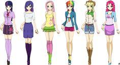 anime manga clothes | Anime Equestria Girls by Bananers97