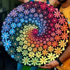Mosaic Daisy Tray You are in the right place about Mandala Painting red Here we offer you the most b Rock Painting Patterns, Dot Art Painting, Rock Painting Designs, Mandala Painting, Paint Designs, Pottery Painting, Painting Wallpaper, Mandala Art Lesson, Mandala Painted Rocks