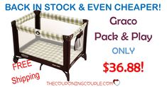 WOW! Get a Graco Pack N Play for only $36.88! Perfect for grandma's, traveling,  the beach, camping and so much more! FREE SHIPPING TOO!  Click the link below to get all of the details ► http://www.thecouponingcouple.com/graco-pack-n-play-only-39-00-with-free-store-pickup/ #Coupons #Couponing #CouponCommunity  Visit us at http://www.thecouponingcouple.com for more great posts!