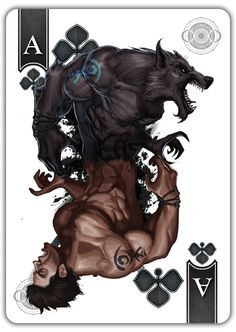 Scott King is raising funds for Werewolf Bicycle® Playing Cards! Lenticular Lens Motion Tuck on Kickstarter! Meet the Full Moon Werewolf deck! The WORLDS first lenticular lens motion tuck! Watch the transformation happen in your hands! Playing Cards Art, Bicycle Playing Cards, Fantasy Creatures, Mythical Creatures, Dr Tattoo, Werewolf Art, Werewolf Games, Werewolf Tattoo, Geniale Tattoos