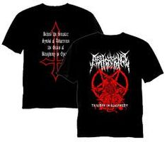 Abhorrence t- shirts armours...Triumph in Blasphemy demo . K7 - 1999.Relapse Records.