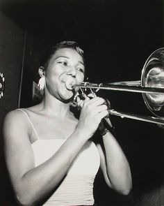 Melba Liston ( 1926 - 1999 )  One of the few women to succeed as both a jazz instrumentalist and an arranger, Melba Liston was a true jazz pioneer. In the 1940s, '50s, and '60s, she played trombone in the big bands of Gerald Wilson, Dizzy Gillespie, Quincy Jones, and Clark Terry. As an accomplished arranger, Liston brought musical life to the songs of numerous great artists, ranging from Billie Ho...See More @ https://www.facebook.com/rashid212