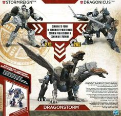 Stormreign and Dragonicus Leaked Image of Robot and Dragonstrom Combiner Modes