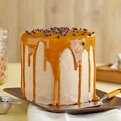 Butterscotch Cake - looks beautiful and sounds yummy!   Easy-Add Wilton Easy Layers! Cake Pan Set