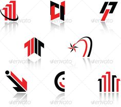 Set of symbols — Vector EPS #isolated #decorate • Available here → https://graphicriver.net/item/set-of-symbols/55873?ref=pxcr