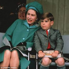 Prince Andrew and Mum