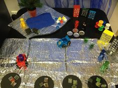 "Imaginative superhero play from Worlds of imagination ("",) (messy play reception) Superhero Party, Superhero Ideas, People Who Help Us, Role Play Areas, Small World Play, Messy Play, School Themes, School Resources, Imaginative Play"