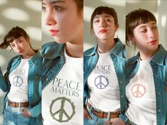 JTEESinc donates to UNICEF for every purchase made from PEACE Matters collection Black And White T Shirts, White Tees, Capsule Wardrobe Essentials, Fashion Capsule, Statement Tees, Best Black, Streetwear Fashion, Street Wear, Sweatshirts