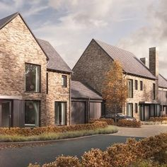 Bespoke contemporary housing development in Sacriston, County Durham, delivering a range of two to four bedroom family homes. Modern Architecture Design, Residential Architecture, Building Structure, Building A House, Modern Family House, Brick Projects, Brick Construction, Arch House, Residential Complex