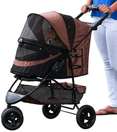 Pet Gear No-Zip Special Edition Pet Stroller, with Zipperless Entry, Chocolate -- For more information, visit image link.