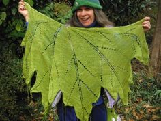 """""""I've been knitting this Maple Leaf Shawl since the beginning of February and I finished it this morning, YAY!…"""" — via harena on tumblr"""