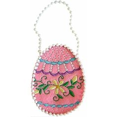 Easter Egg Treat Bag Embroidery Design