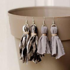 Scrap Fabric Tassel Earrings - craftgawker