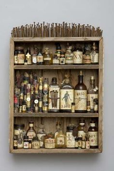 medicine cabinet: altered bottles for the dark and creepy overachievers among us - LOVE it
