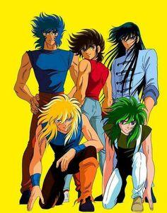 Ikki, Hioga, Seiya, Shion y Shiriu