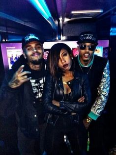 Chris Brown Sevyn Streeter and August Alsina
