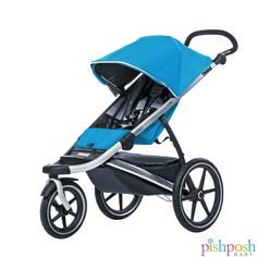 Introducing the Thule Urban Glide jogging stroller! Sleek and smooth handling from mobility genius Thule also includes swivel and locking front wheel for any terrain, near-flat recline, one-handed folding, HUGE underseat basket, and much more. Available in 3 colors, priced at $399.95.  http://www.pishposhbaby.com/thule-urban-glide-stroller.html