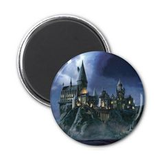 Hogwarts Castle At Night Magnet (14 PLN) ❤ liked on Polyvore featuring home, home decor and office accessories