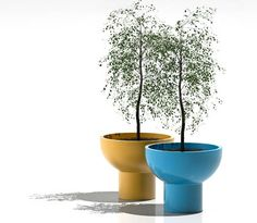 Unique Modern Planters from Serralunga, Spring Decorating Ideas