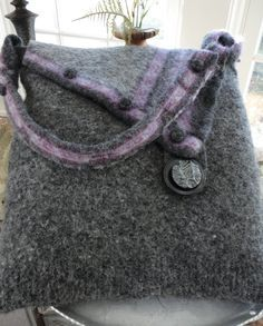 Recycle Those Wool Sweaters on Pinterest