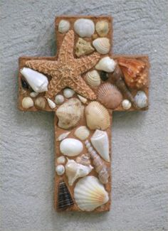 Mosaics can be made from anything.  Especially His creations:  The sea is His, for he made it...  Oh come, let us worship and bow down; Let us kneel before the Lord our Maker.  Psalm 95:5-6