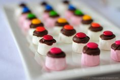 Marshmallows, Chocolate & M's