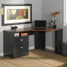 Bush Furniture Wheaton Reversible Corner Desk - Make the most of your space with the Bush Furniture Wheaton Reversible Corner Desk . In a convenient, corner L-shape, this desk can be reversed...