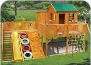 Fun Backyard Play Area for Kids Ideas. If you have enough land, then there will be a space that will be a play area for kids. Kid's playroom is very safe and comfortable that is located at . Cubby Houses, Play Houses, Outdoor Projects, Diy Projects, Woodworking Projects, Backyard Projects, Outdoor Fun, Outdoor Jungle Gym, Outdoor Forts