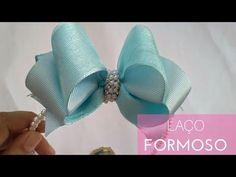 DIY ribbon flower I Kanzashi flower tutorial Diy Hair Bows, Diy Bow, Diy Ribbon, Ribbon Bows, Hair Bow Tutorial, Bow Accessories, Kanzashi Flowers, Boutique Hair Bows, Girls Bows