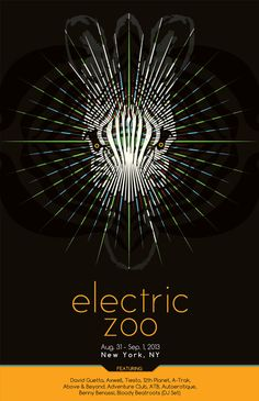 Electric Zoo Poster by Kyle Hegner, via Behance