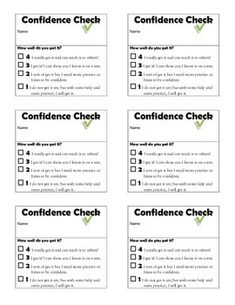 Confidence Check Tickets for students to self-report understanding of lesson ( Freebie ) Student Self Assessment, Grade 3, Ontario, Ticket, Confidence, Students, Feelings, Check, Free