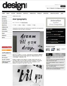 Ace Typography piece by Sawdust features in Design Week along with an interview...