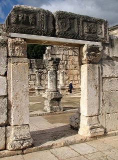 Ruins of a Synagogue in Capernaum #Israel #archaeology