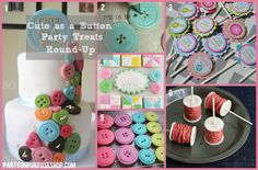 cute as a button party sweets